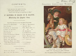 Advert for the Christmas edition of The Graphic 8113